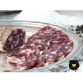 Calabrian black pork soppressata of Calabria