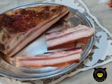 Guanciale (pork cheek) of black pig on Calabia