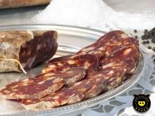 Red delicate soppressata Calabrian black pork