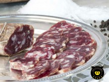 Calabrian black pork soppressata of Calabria