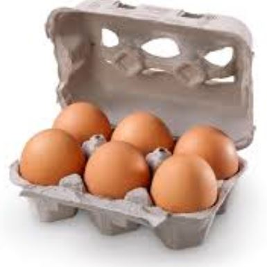 Ground-raised chicken eggs