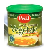 VEGETABLE GRANULATED ORGANIC broth without glutamate, low fat with yeast extract and carrot juice - tin