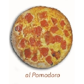 Apulian Focaccia from Altamura with dresh tomatoes