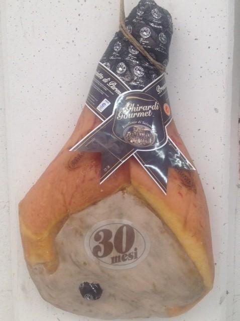 Prosciutto di Parma (whole parma ham) 30 months matured with bone - Ghirardi Onesto