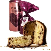 Grappolone Panettone with raisins and grappa cream with Poli brand Moscato Grappa