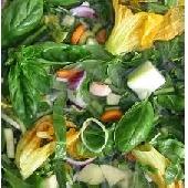 Fresh seasonal vegetable soup