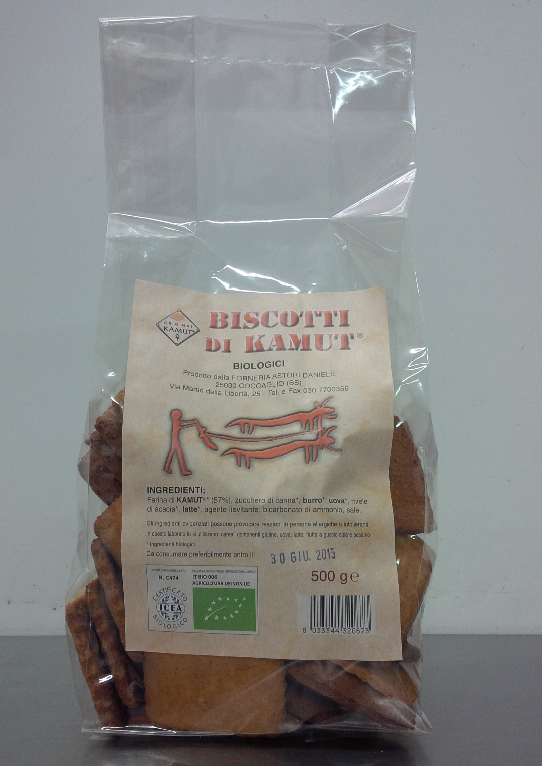 Artisan organic Kamut wheat biscuits - Forno Astori