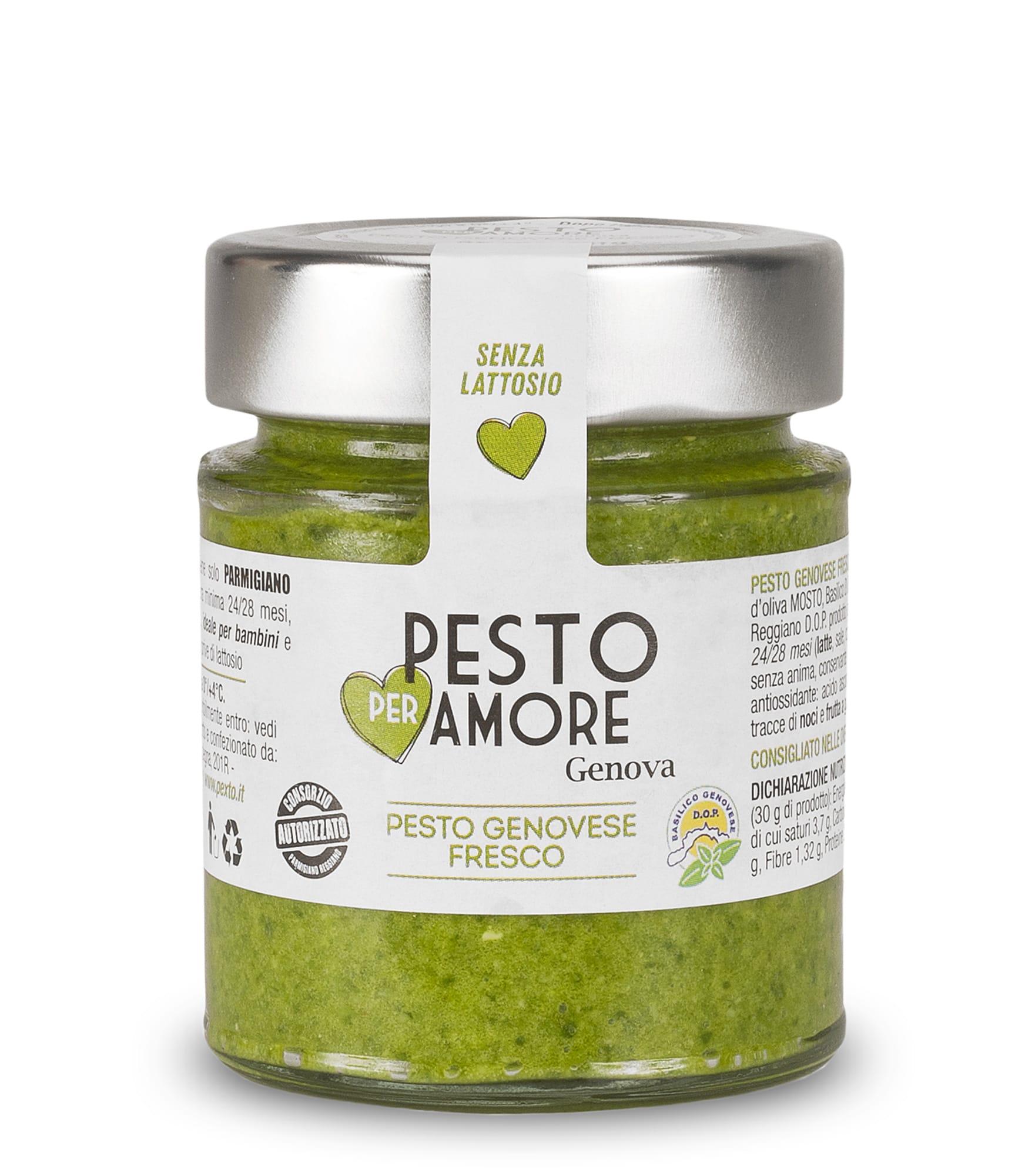 Fresch Genovese Pesto  with  parmigiano reggiano 25 months - Pexto per Amore