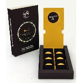 8 small tablets of traditional Modica chocolate with Interdonato lemon and Lesser calamint