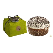 Panettone with fruit: pear and chocolate - wrapped by hand - Fiasconaro